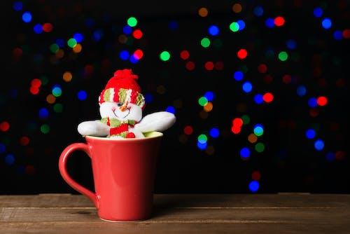 Snowman In Red Ceramic Mug
