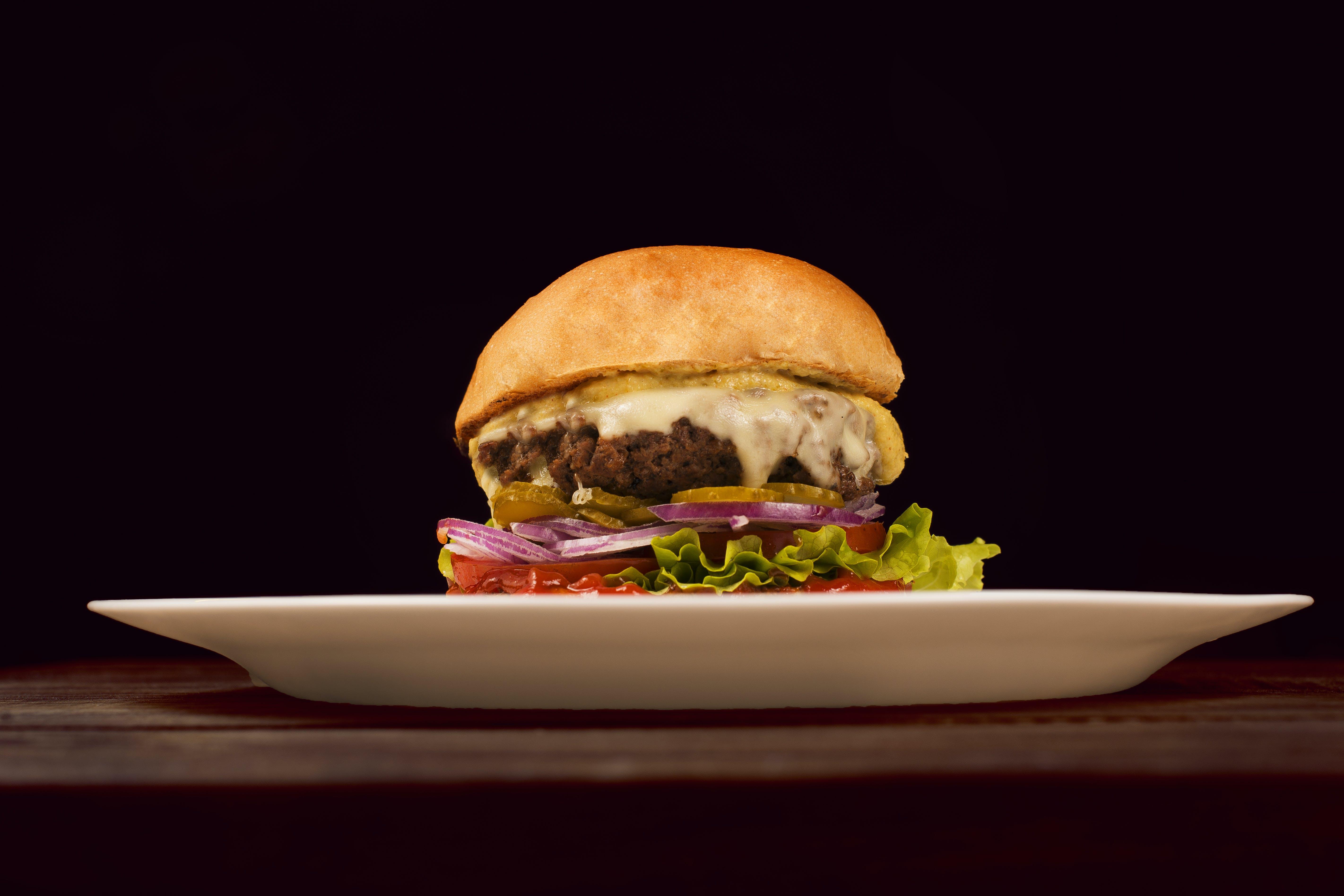 Close-up Photo of a Cheeseburger