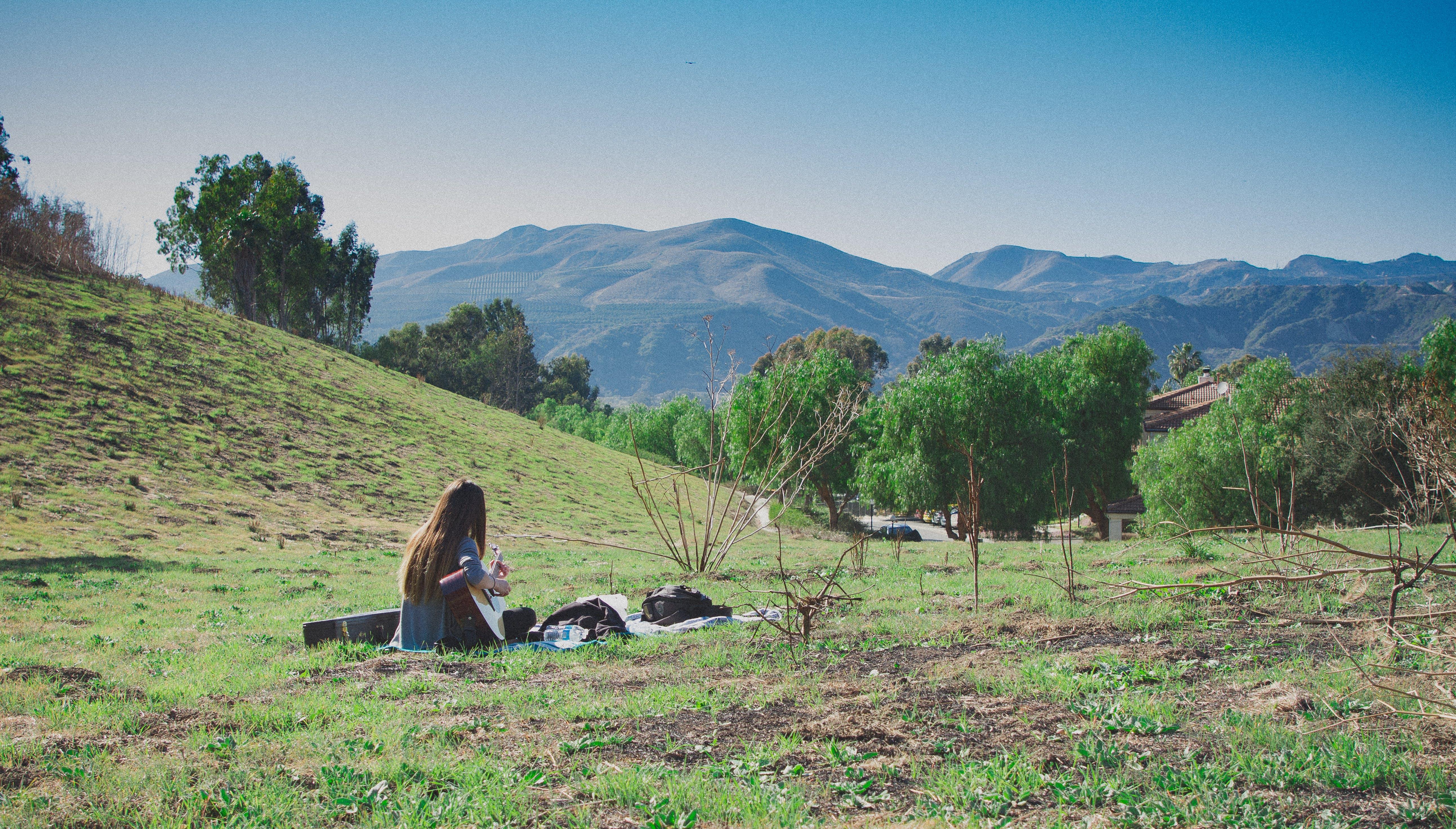 Free stock photo of green, guitar, landscape, ojai