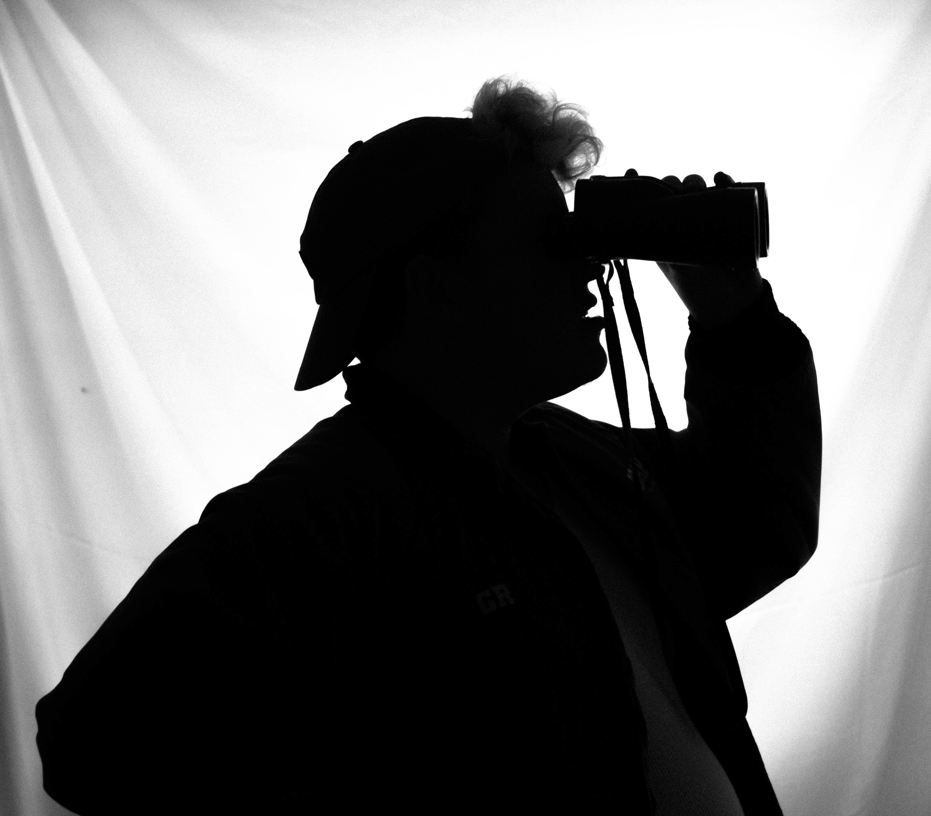 Free stock photo of binoculars, looking, silhouette