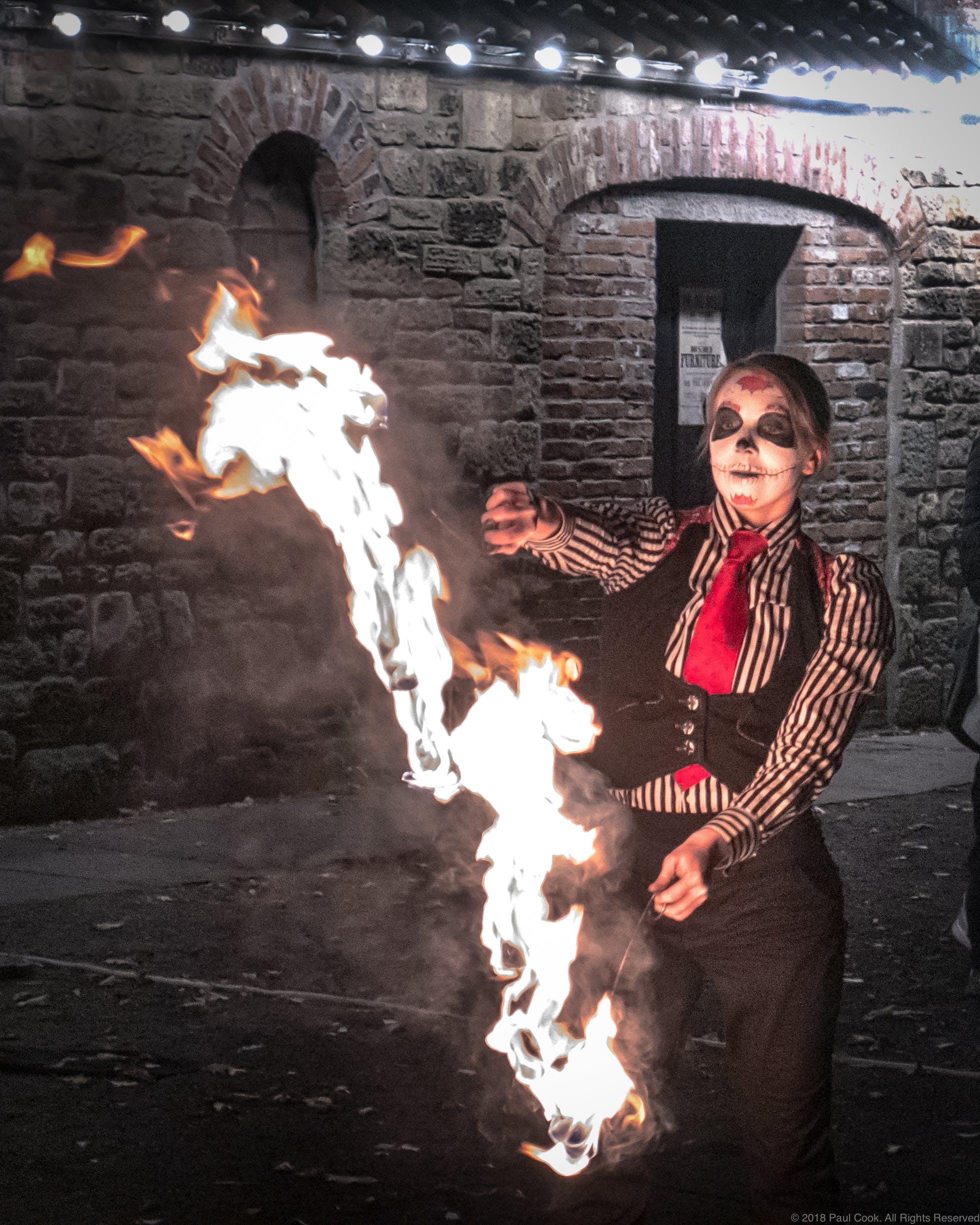 Free stock photo of danse macabre, fire, halloween, sugar skull