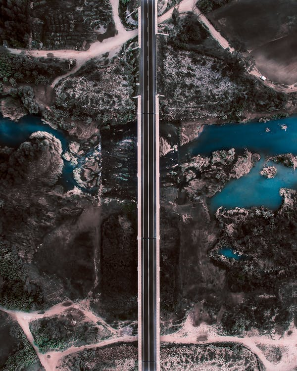 Aerial Photography of Bridge