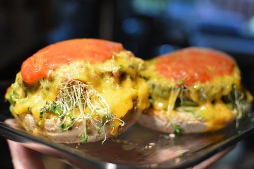 Free stock photo of sprouts, vegan, vegan cheeseburger