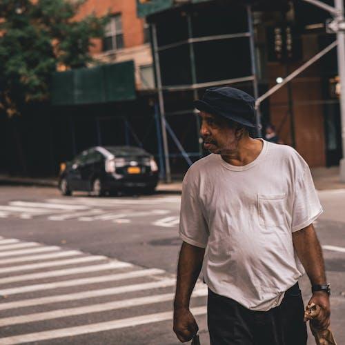 Foto stok gratis berjalan, jalan, laki-laki, memalingkan muka