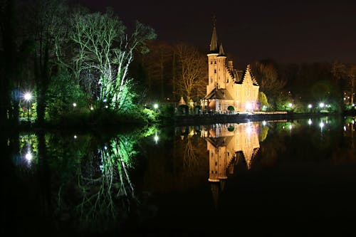 Free stock photo of architecture, bruges, city lights