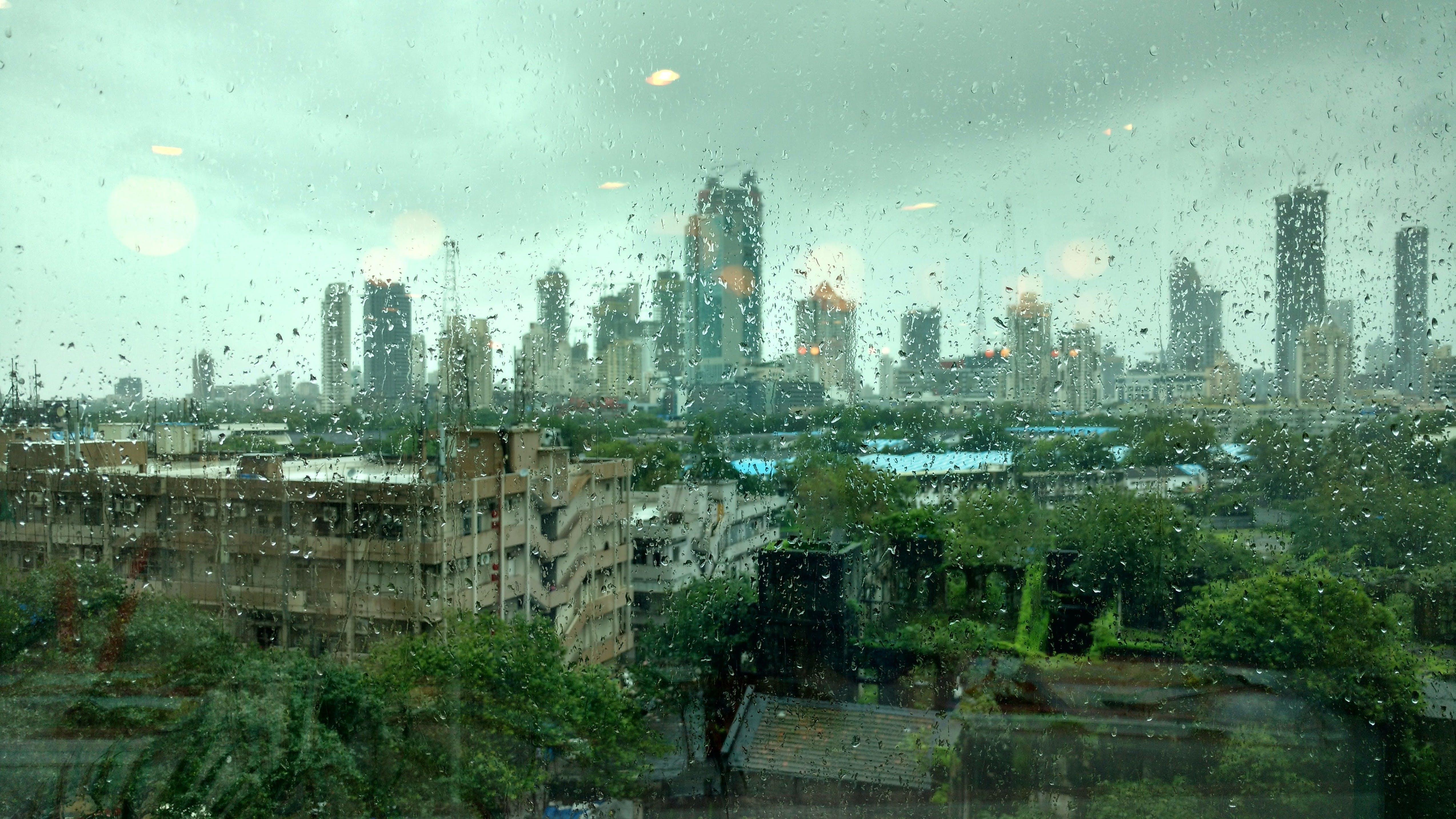 Δωρεάν στοκ φωτογραφιών με mumbai, αστικός, βροχή, γραμμή ορίζοντα