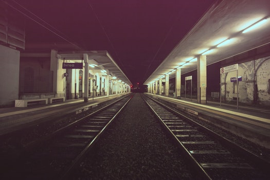 Free stock photo of rails, railroads, railways, train station