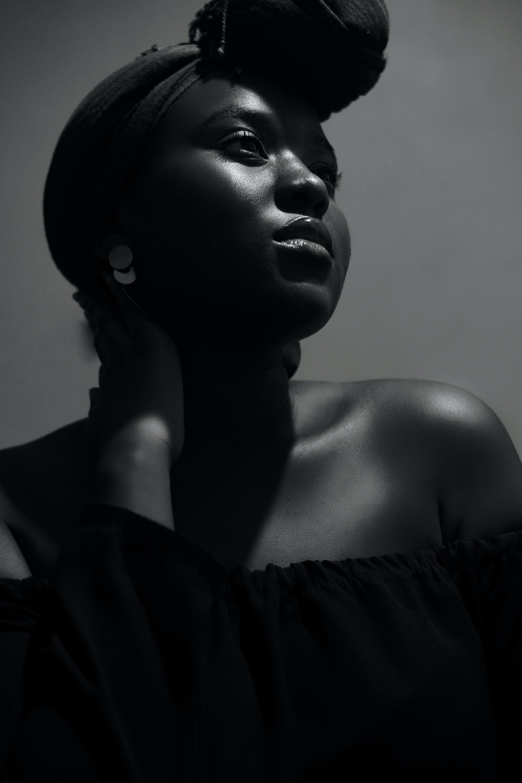 Woman Wearing Black Tube Dress