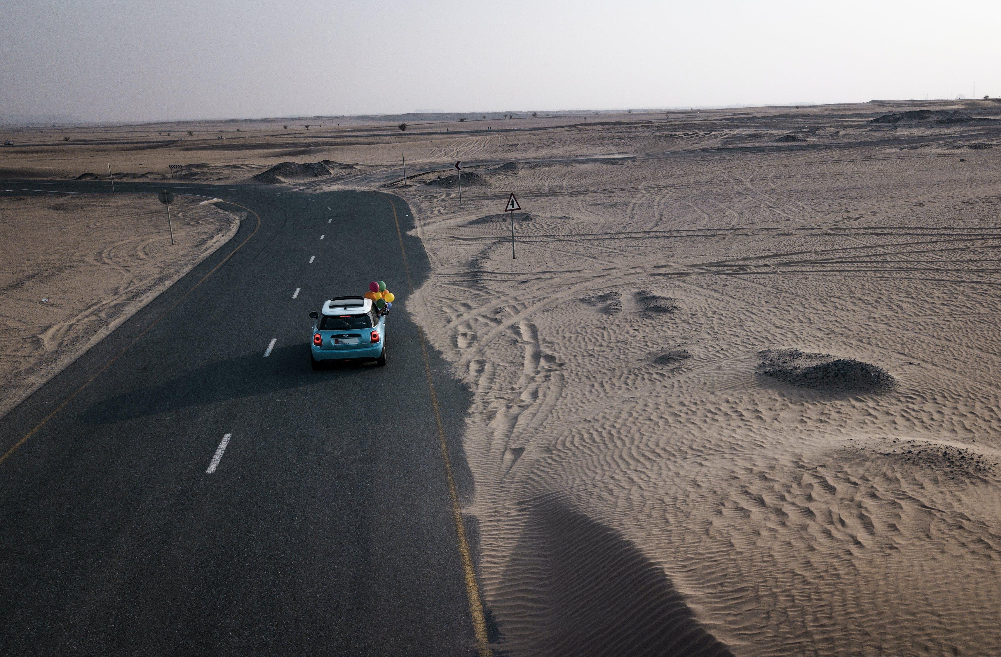 Free stock photo of car, desert, deserted, dirt road
