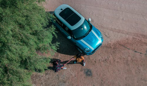 Безкоштовне стокове фото на тему «Mini Cooper, автомобіль, аерознімок, з висоти польоту»