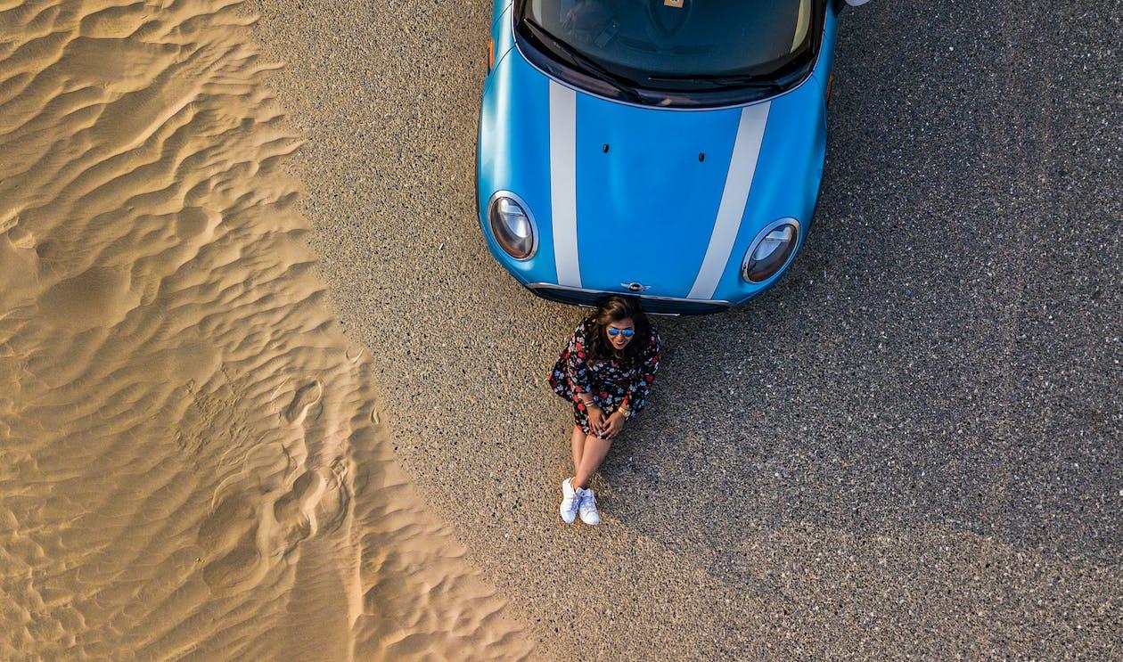 alleen, auto, avontuur