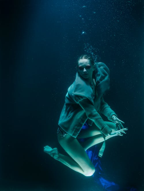Photo of a Woman Underwater