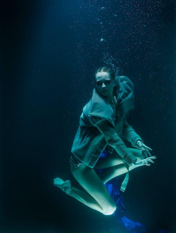adulto, água, beleza