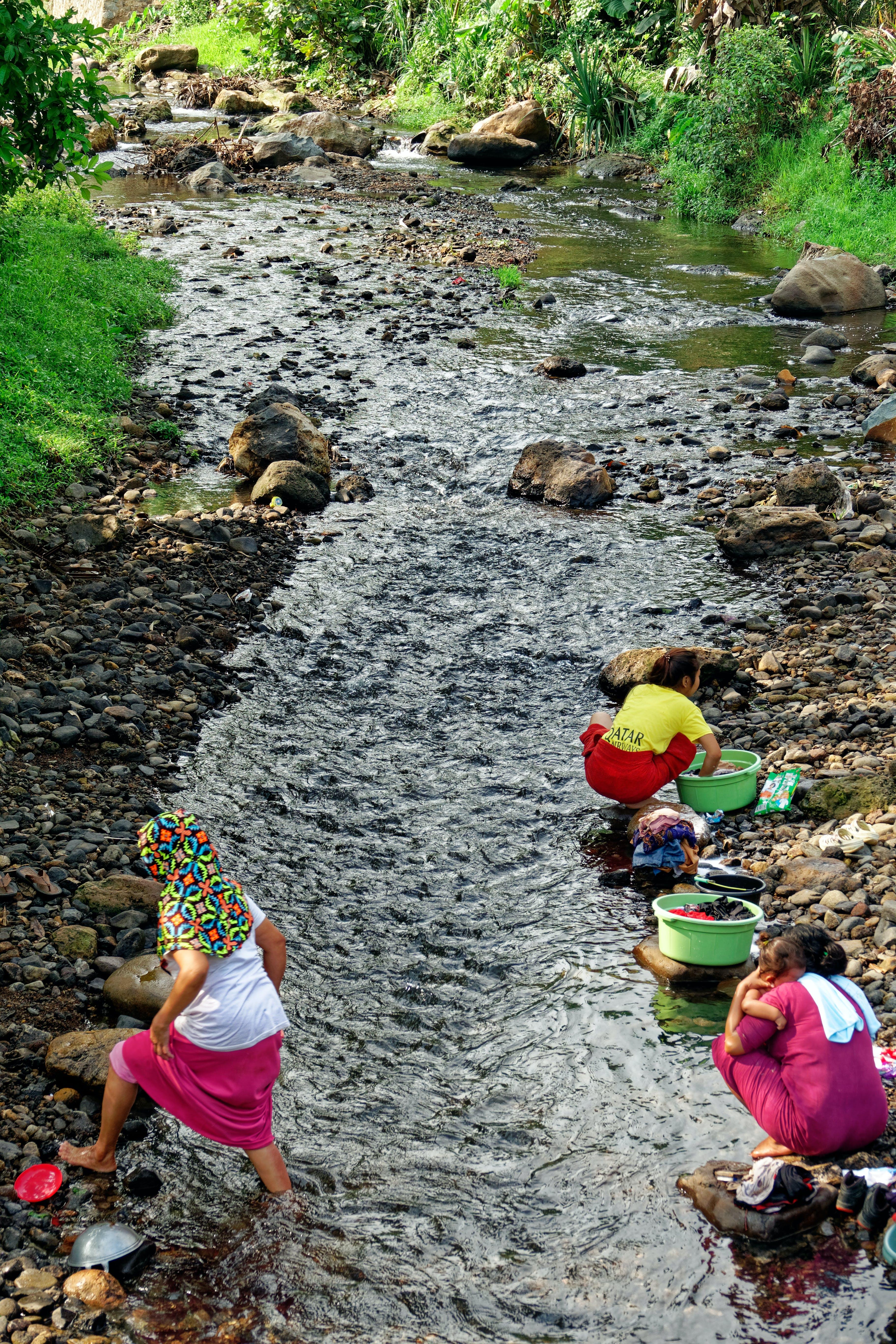 印尼, 女性, 日光, 流 的