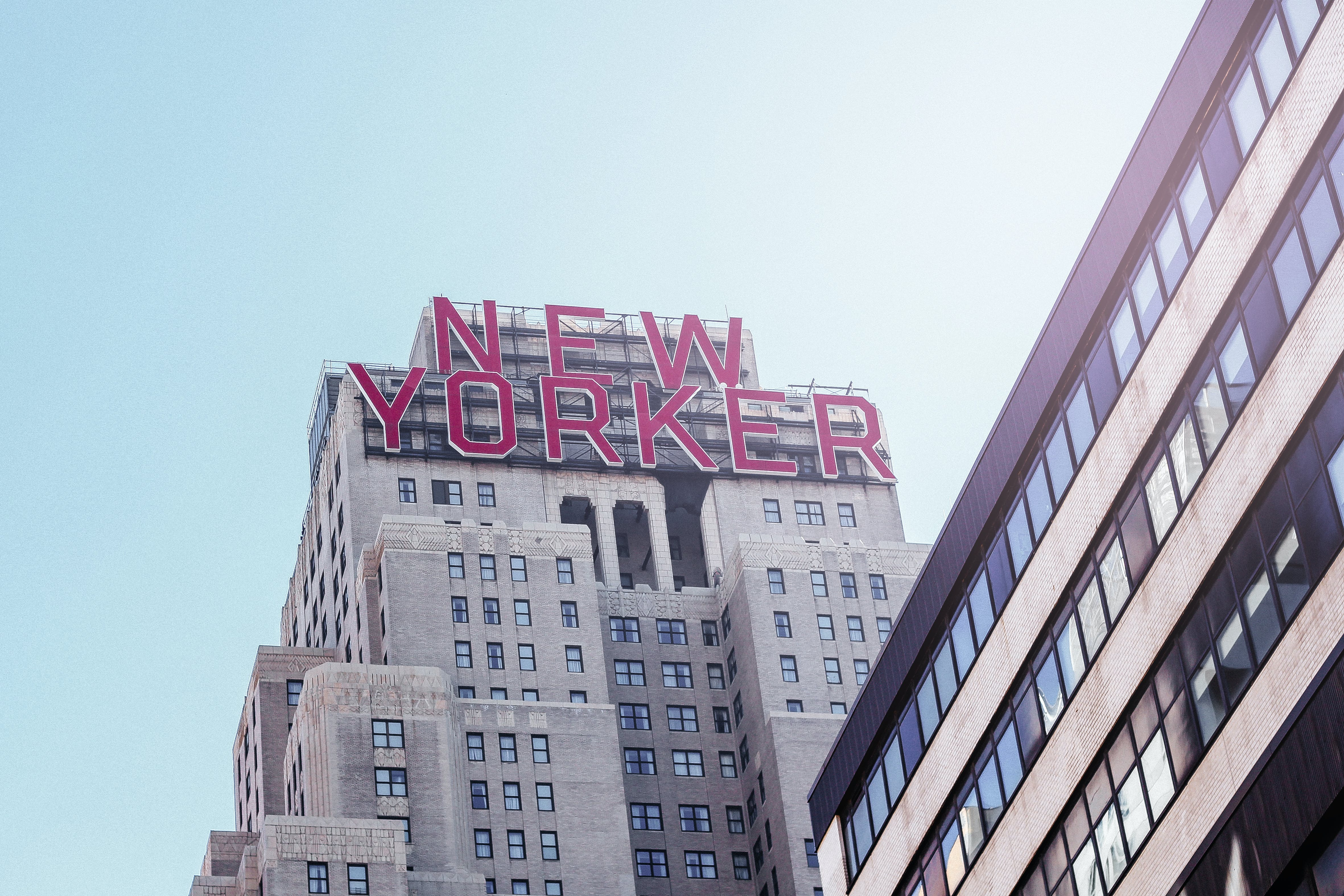 New Yorker Signage on Building
