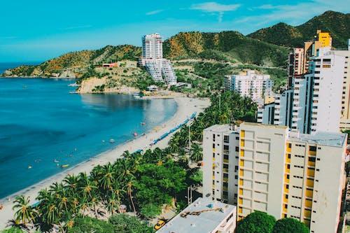 Imagine de stoc gratuită din Caraibe, clădiri, columbia, de deasupra