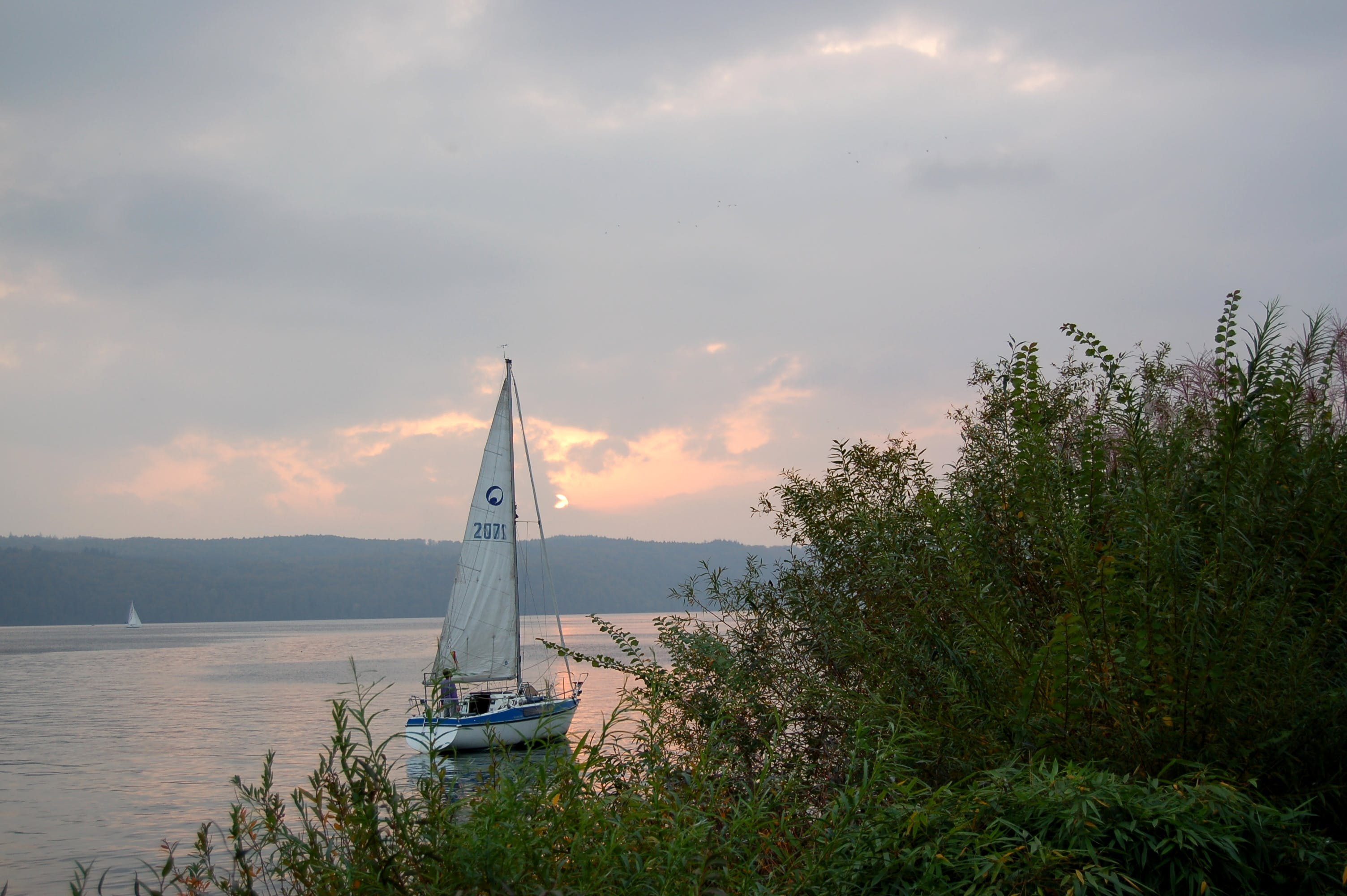 Free stock photo of abendstimmung, cloouds, lake