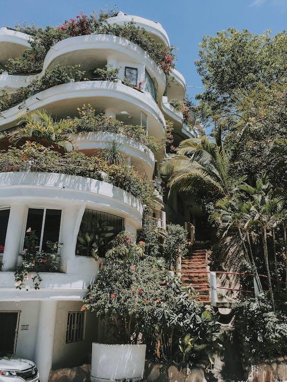 apartmán, architektúra, balkón