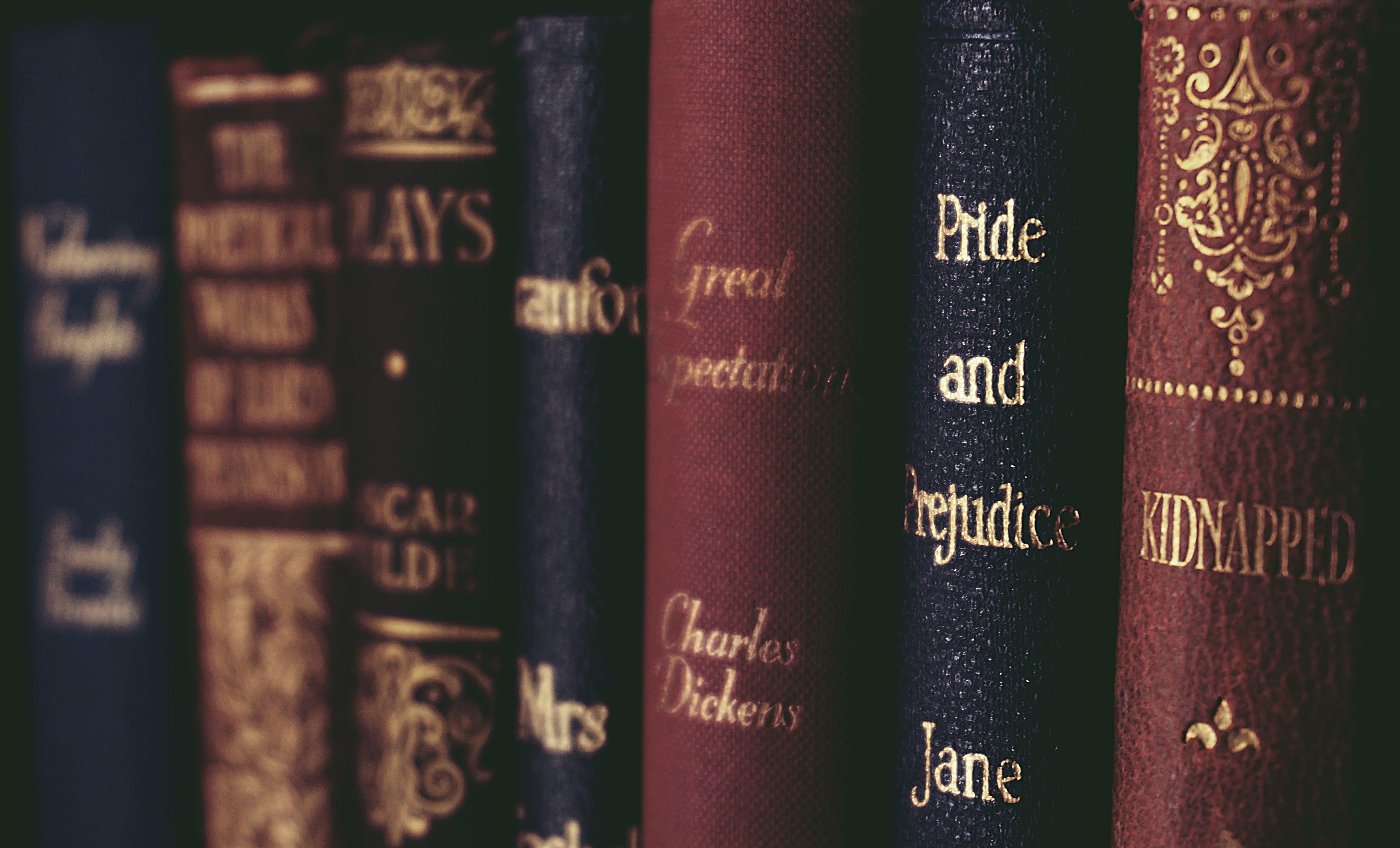 Free stock photo of books, vintage, school, row
