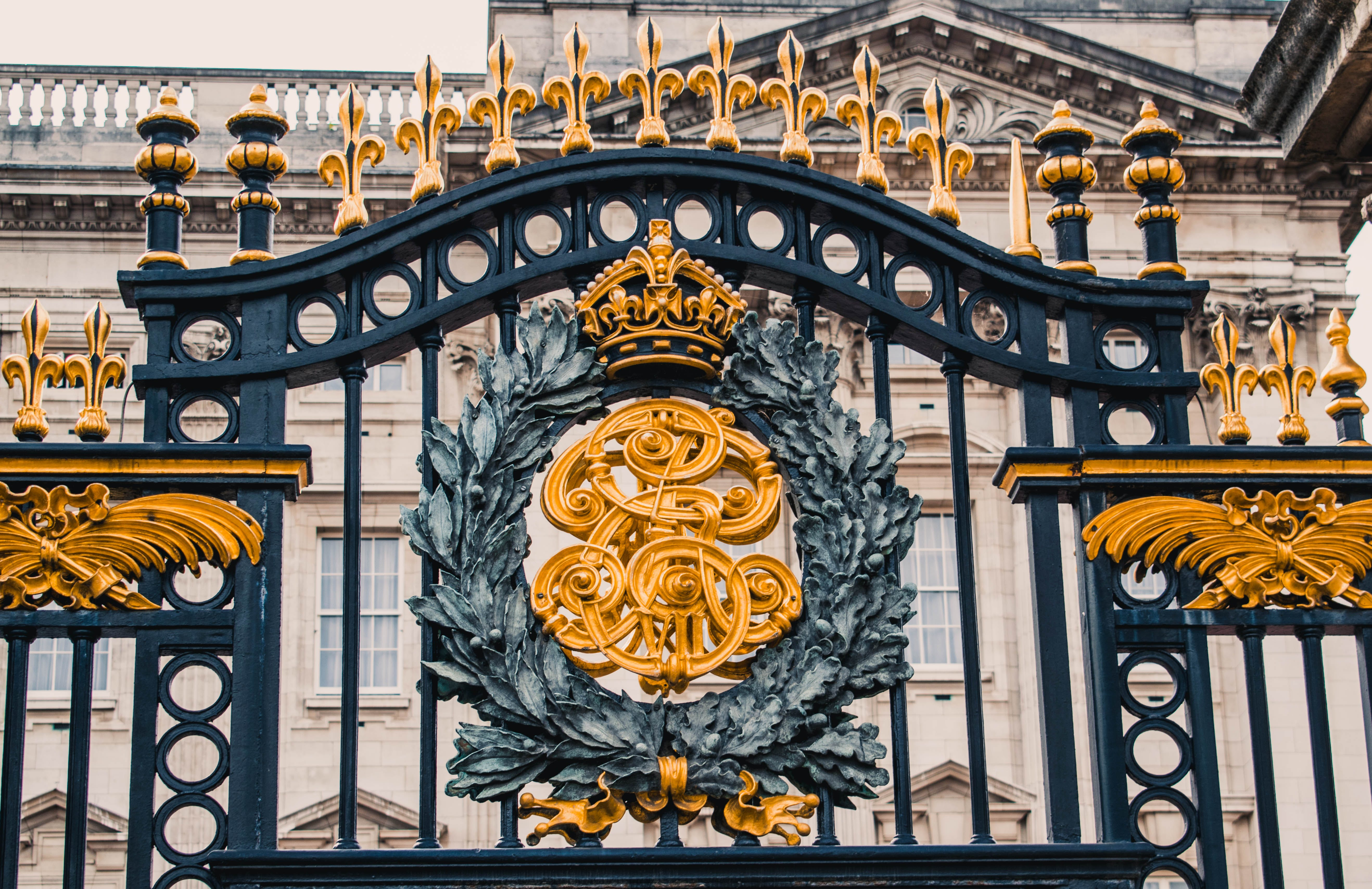 Close-Up of Gate of Buckingham Palace