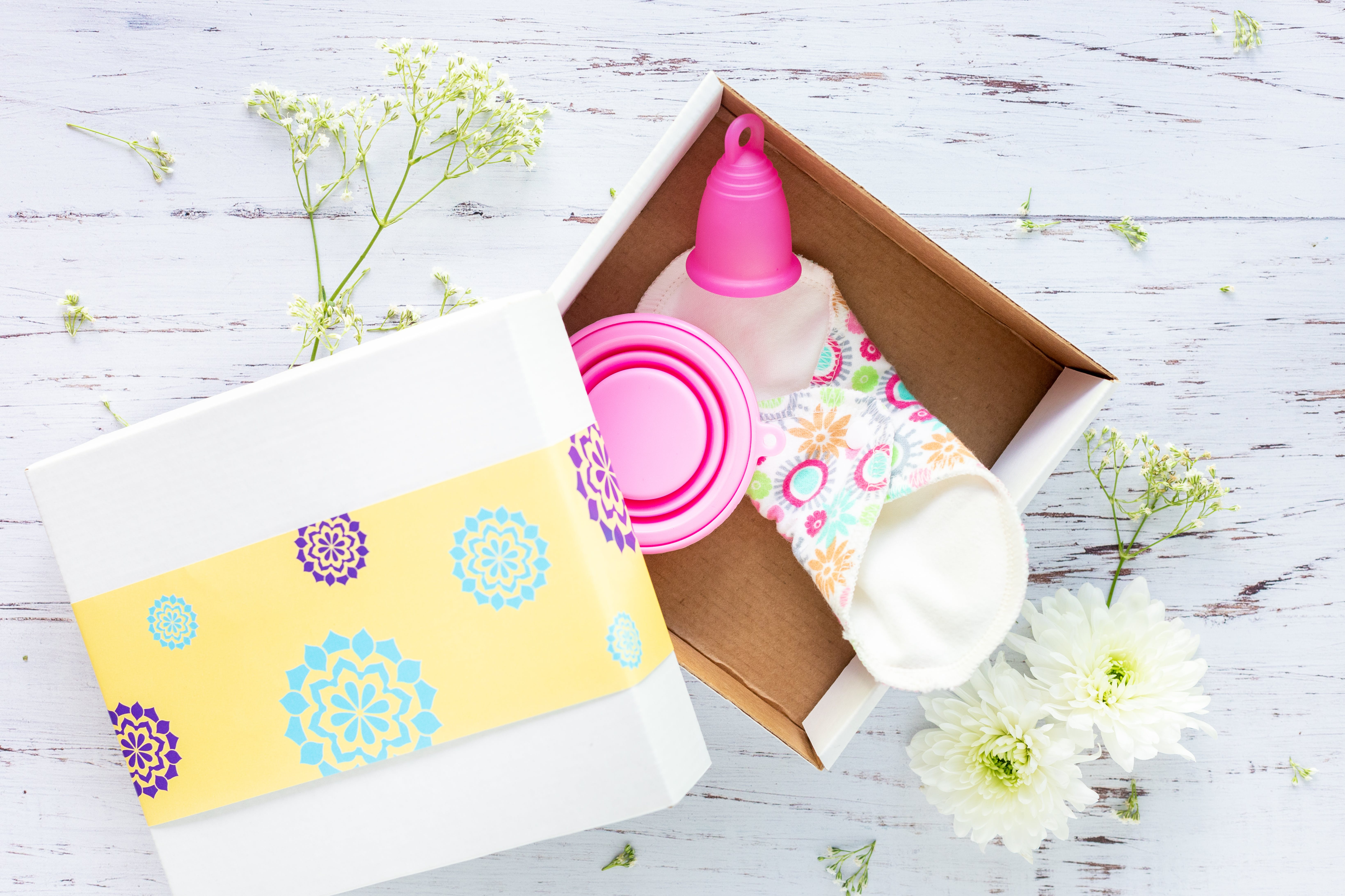 Pink Menstrual Cup in Box