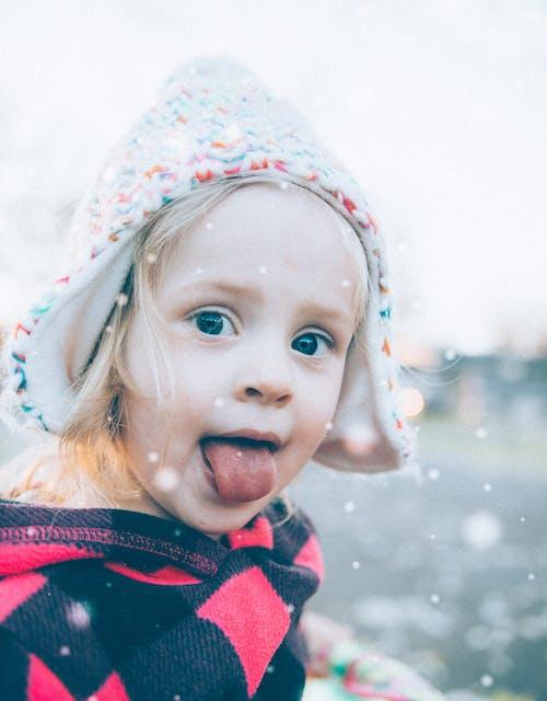 Immagine gratuita di bambino, fiocchi di neve, inverno