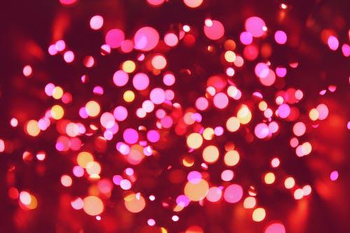 燈光, 燈火, 發光的, 聖誕燈飾 的 免费素材照片