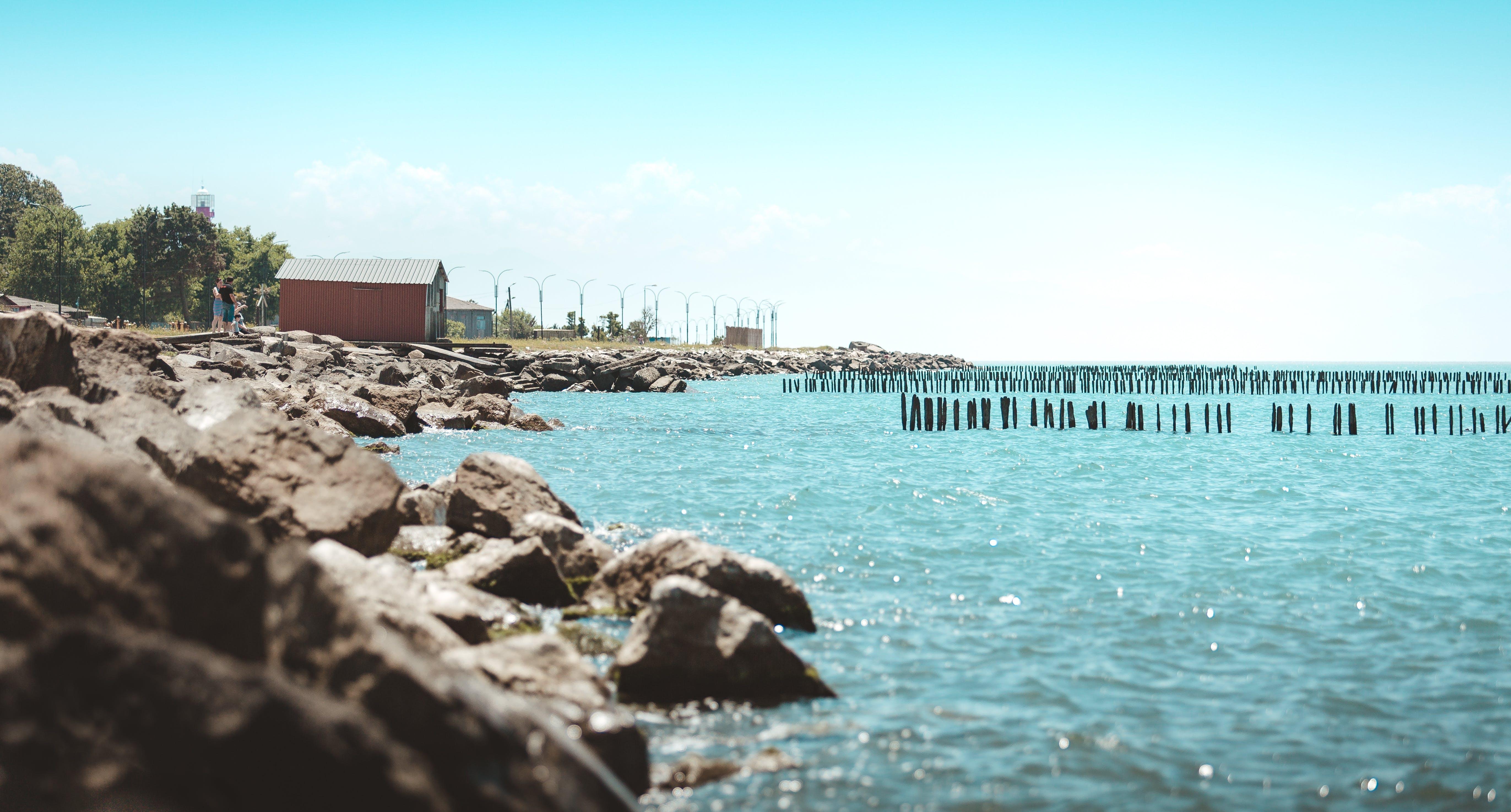 Free stock photo of beach, Black Sea, blue sky, blue water