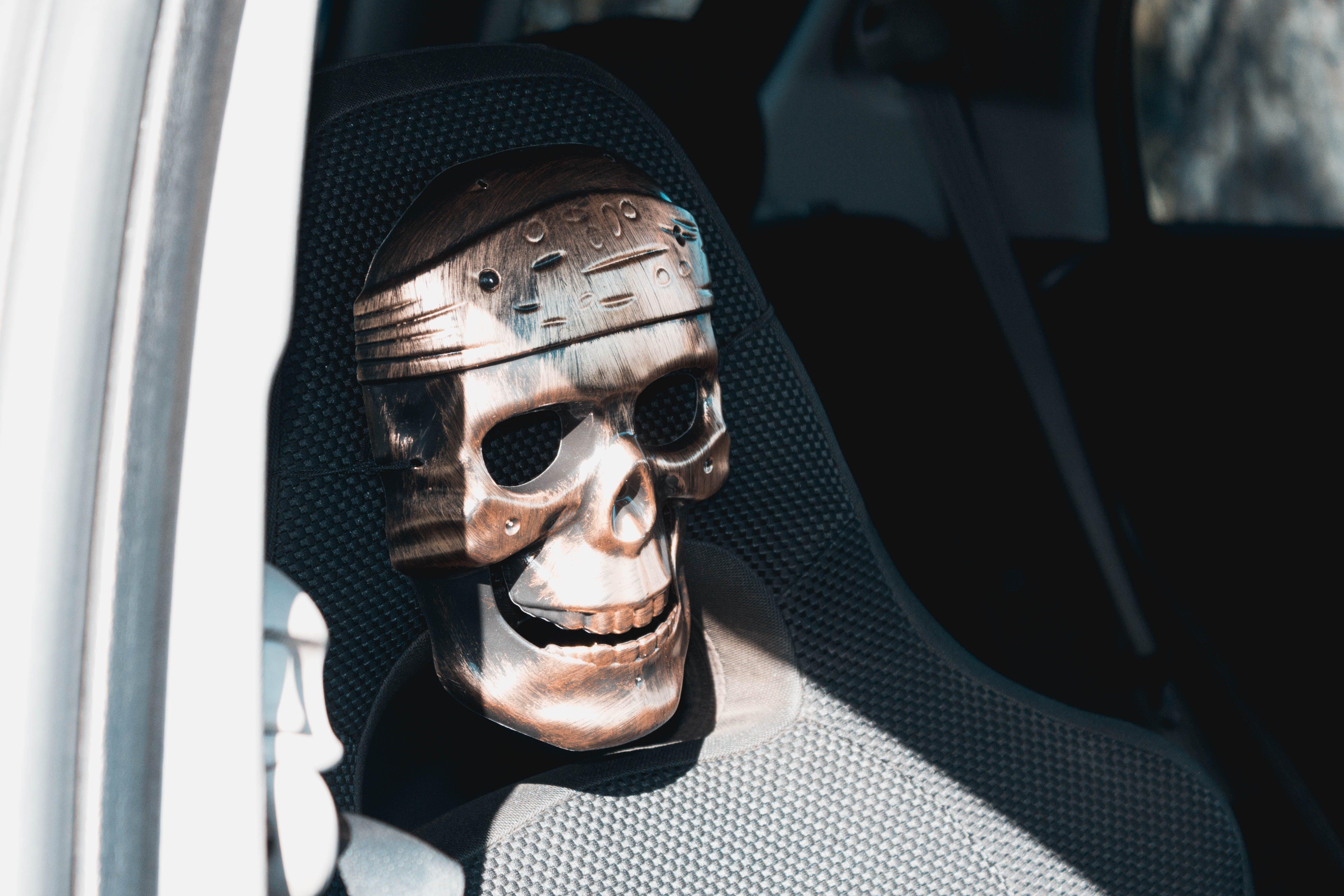 Skull on Bucket Seat Headrest