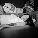 woman, girl, tired