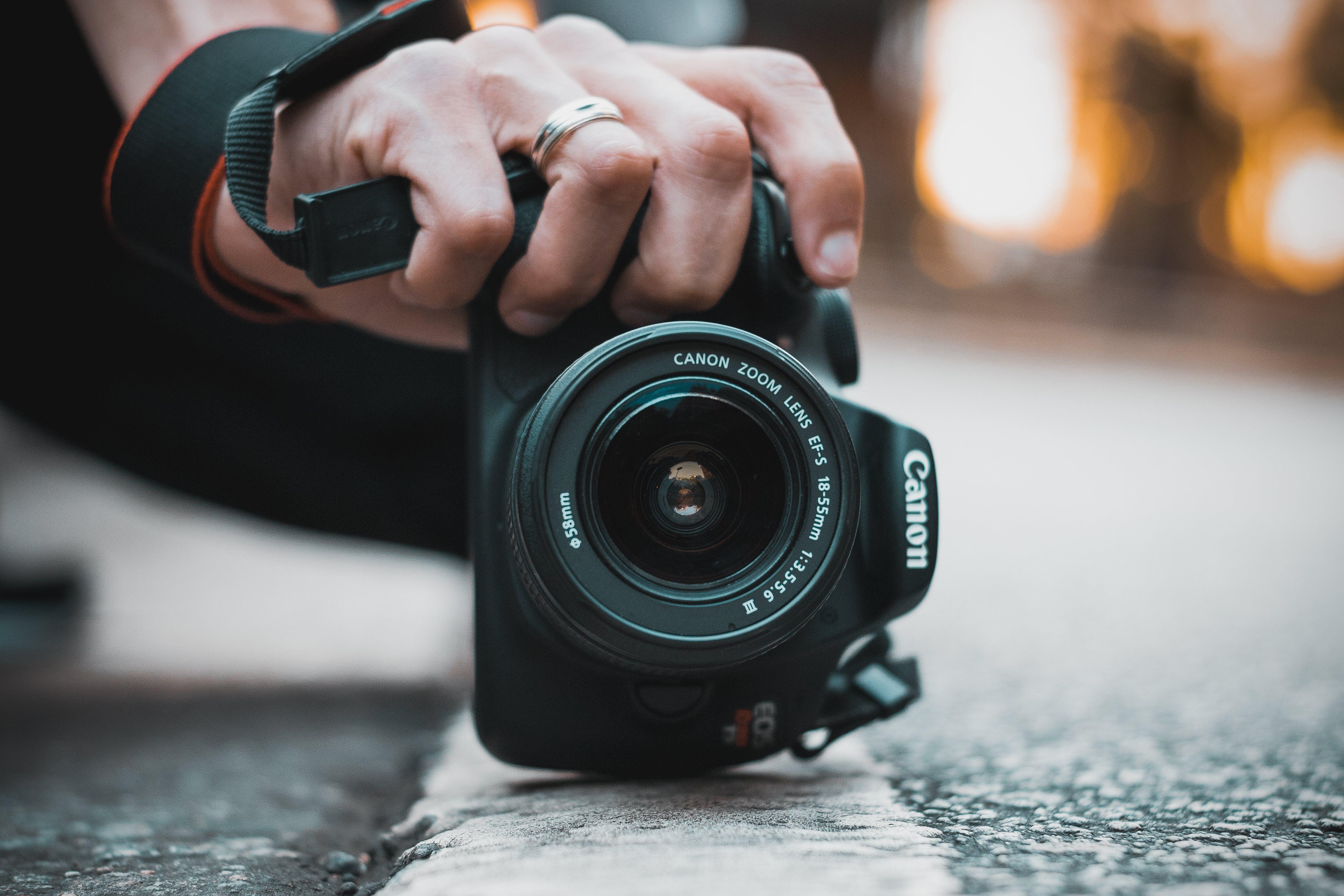 Close-Up Photo of Canon Dslr Camera