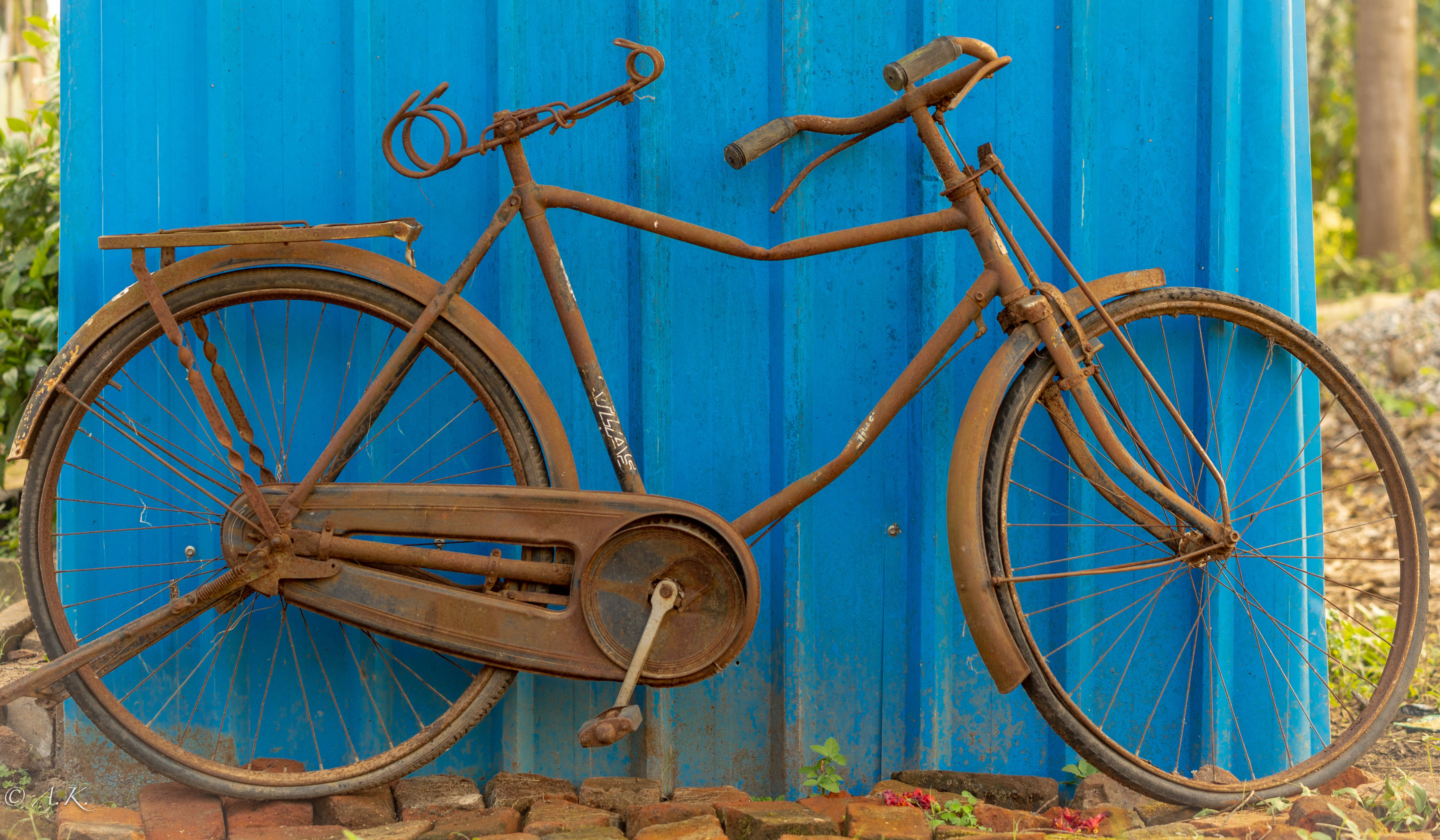 Free stock photo of bicycle, colourful, scrapyard