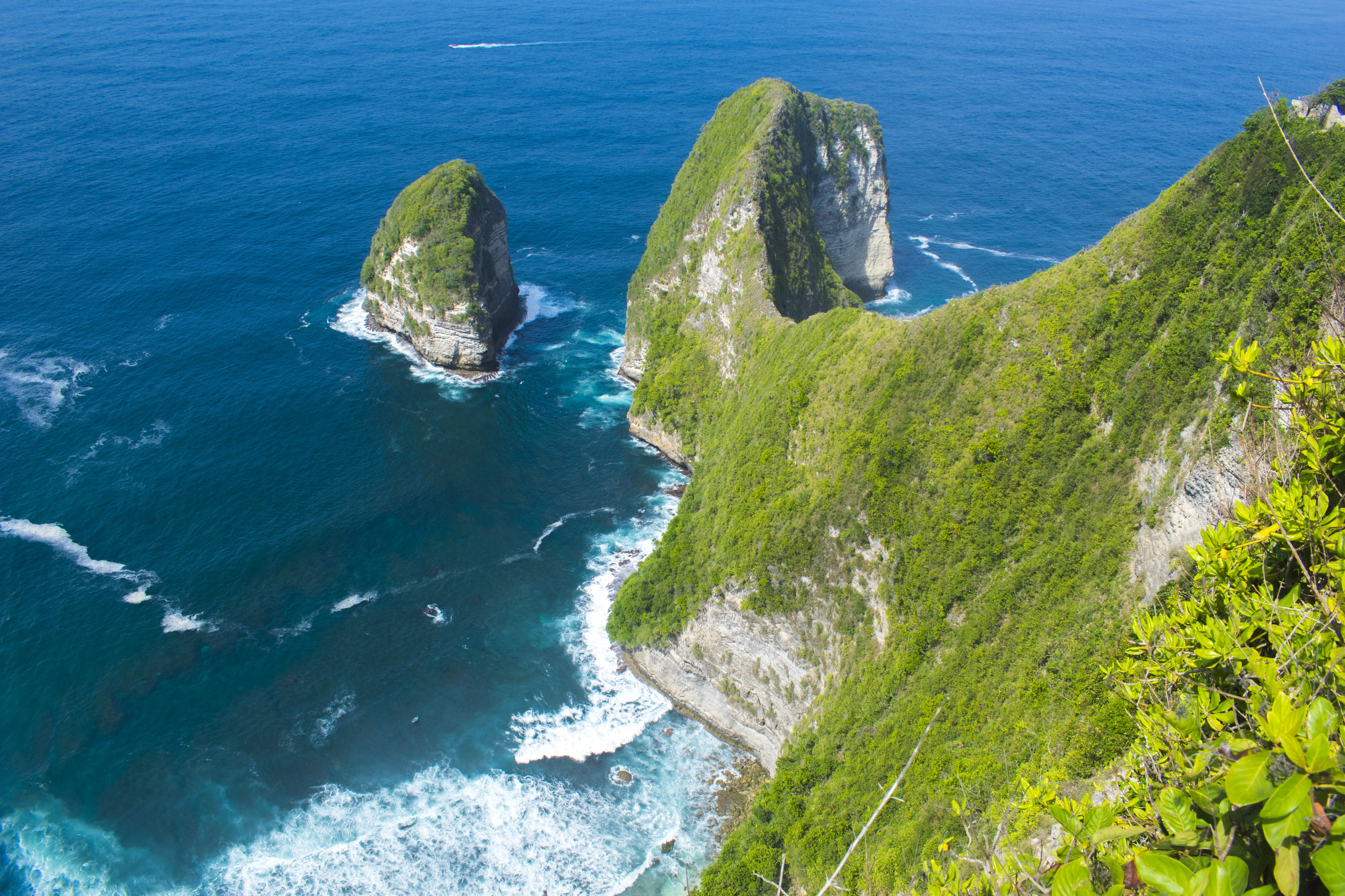 Aerial Photography Of Cliff And Sea