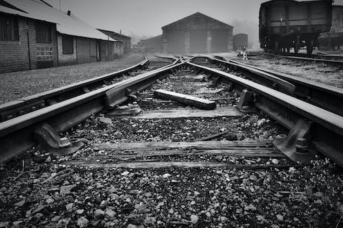 Free stock photo of Railways b&w