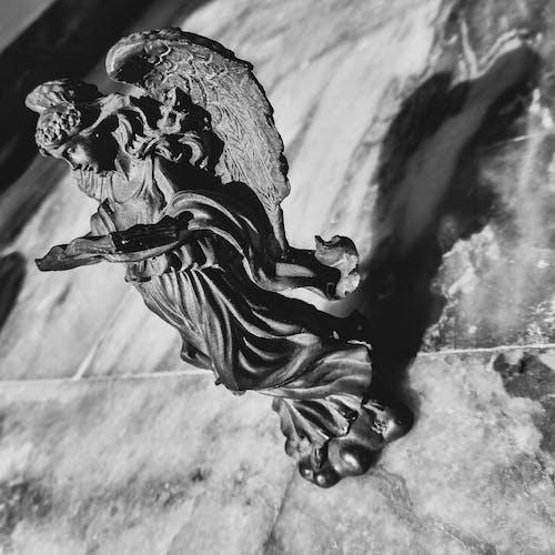 Darmowe zdjęcie z galerii z cień, czarno-biały, monochromatyczny