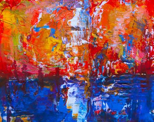 丙烯酸塗料, 塗料, 帆布, 抽象繪畫 的 免費圖庫相片