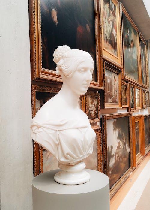 Free stock photo of art, girl, museum, statue