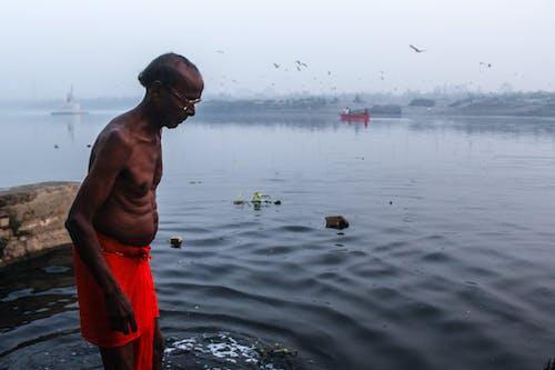 Бесплатное стоковое фото с апельсин, Взрослый, вода, водный транспорт