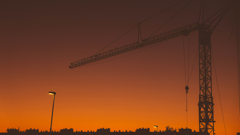 Free stock photo of evening, landscape, minimalism, orange