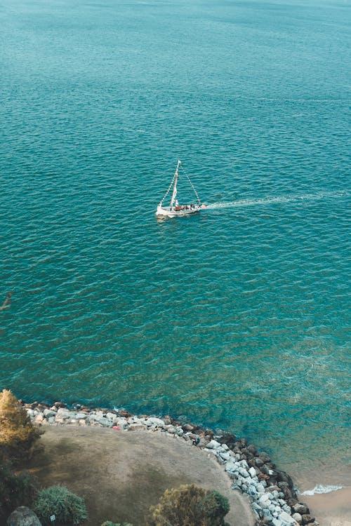 bateau, bord de mer, côte