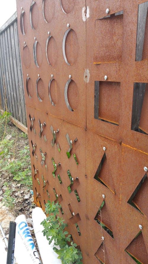 Free stock photo of design, geometry, iron wall