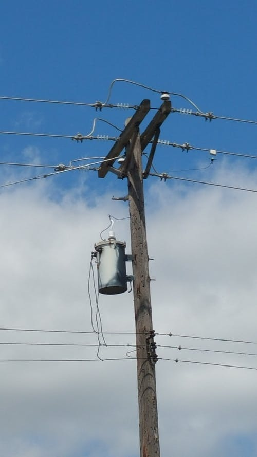 Free stock photo of power line, power pole, transformer