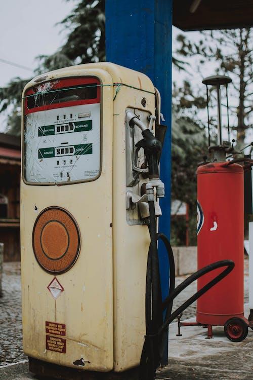 가솔린, 공공의, 역, 연료 펌프의 무료 스톡 사진