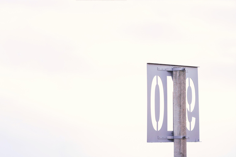 Foto d'estoc gratuïta de acer, número, placa, signe