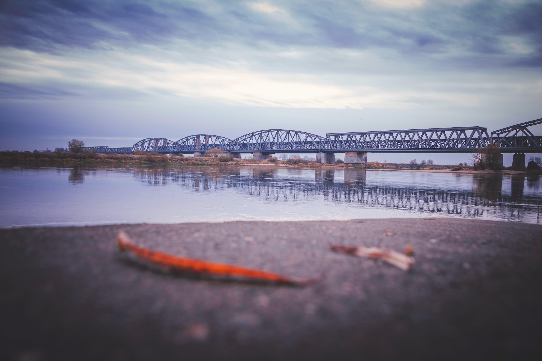 Tilt Photography of Metal Bridge