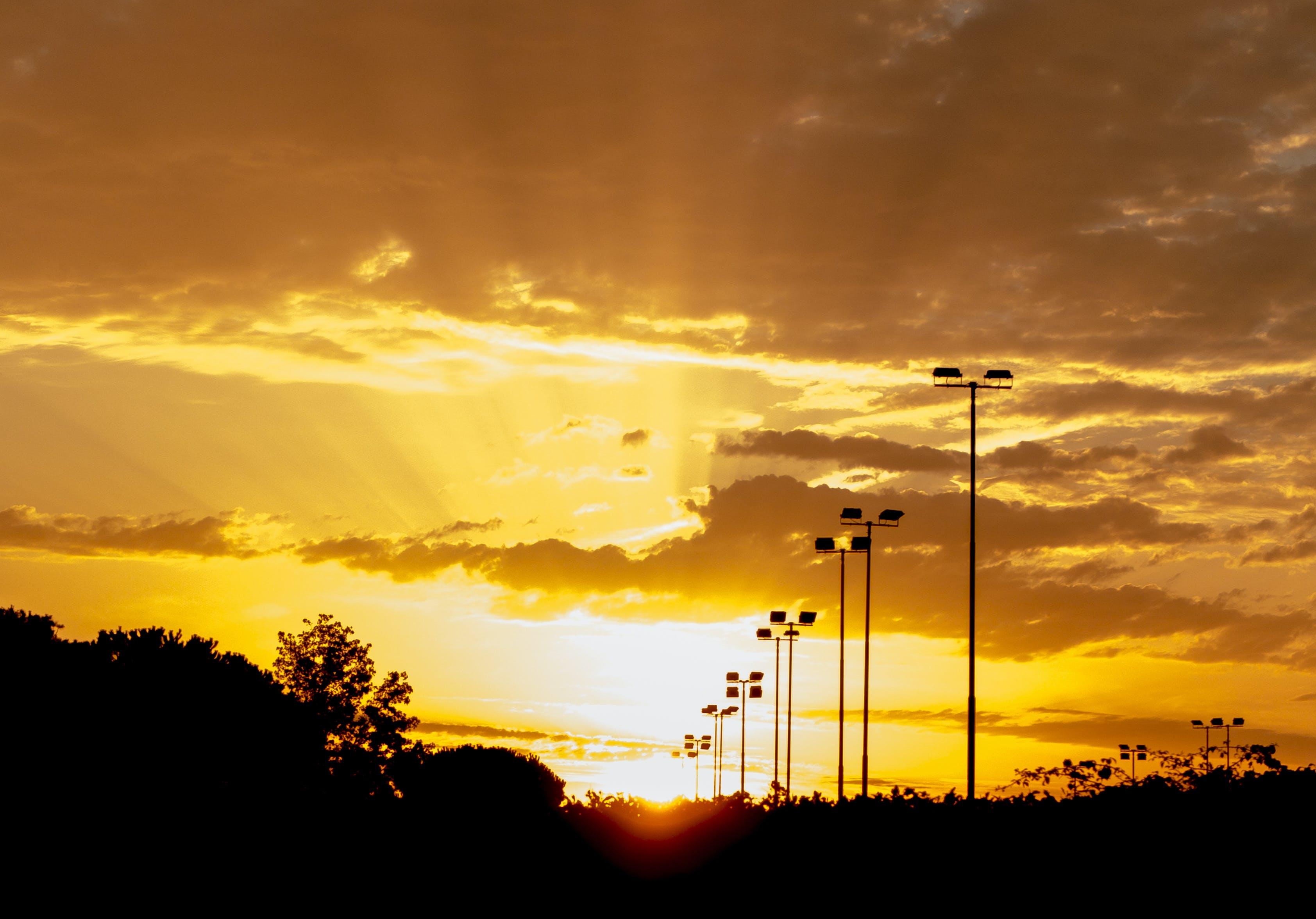Street Lights during Sunset