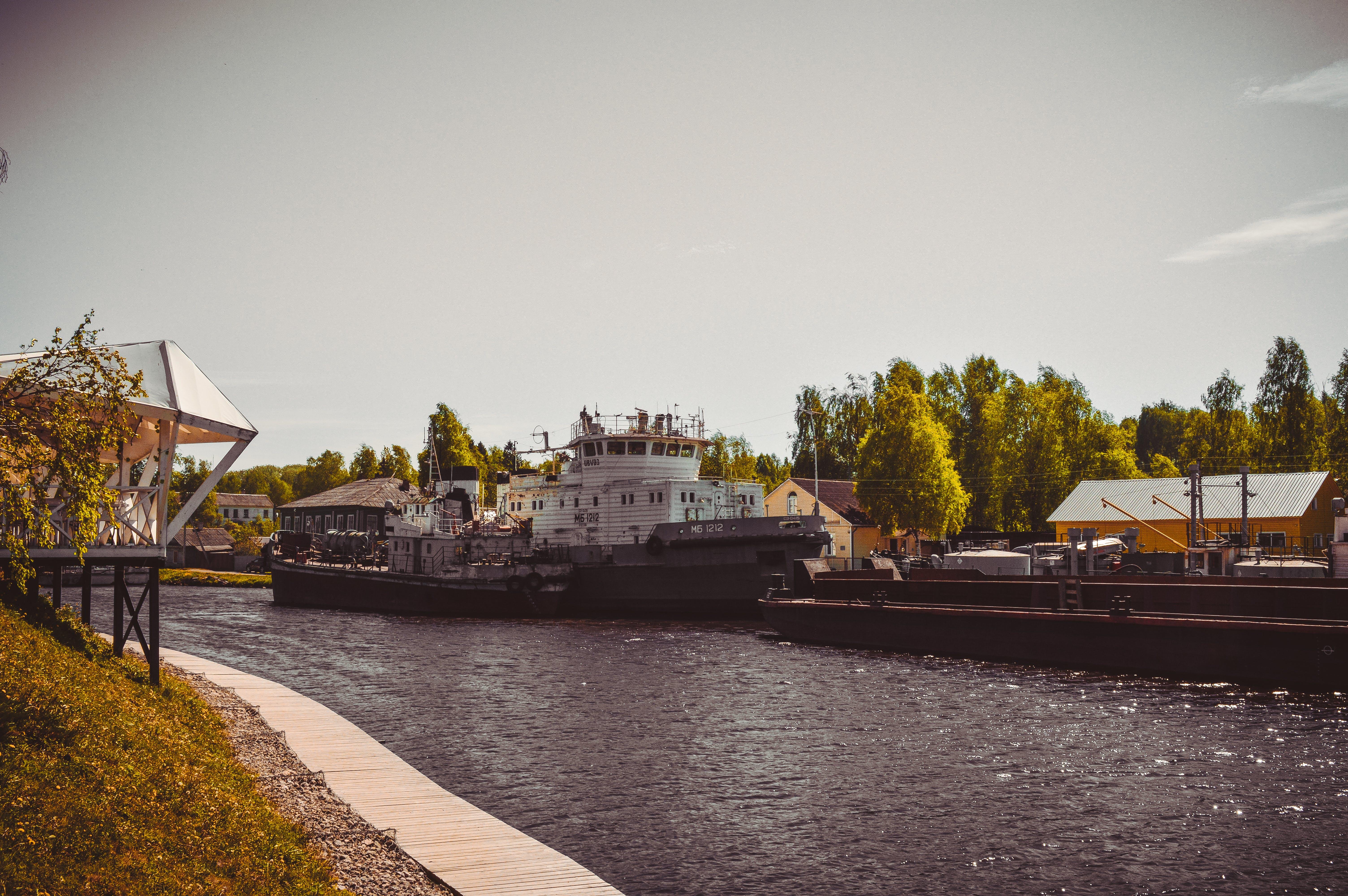 Free stock photo of city, port, ships