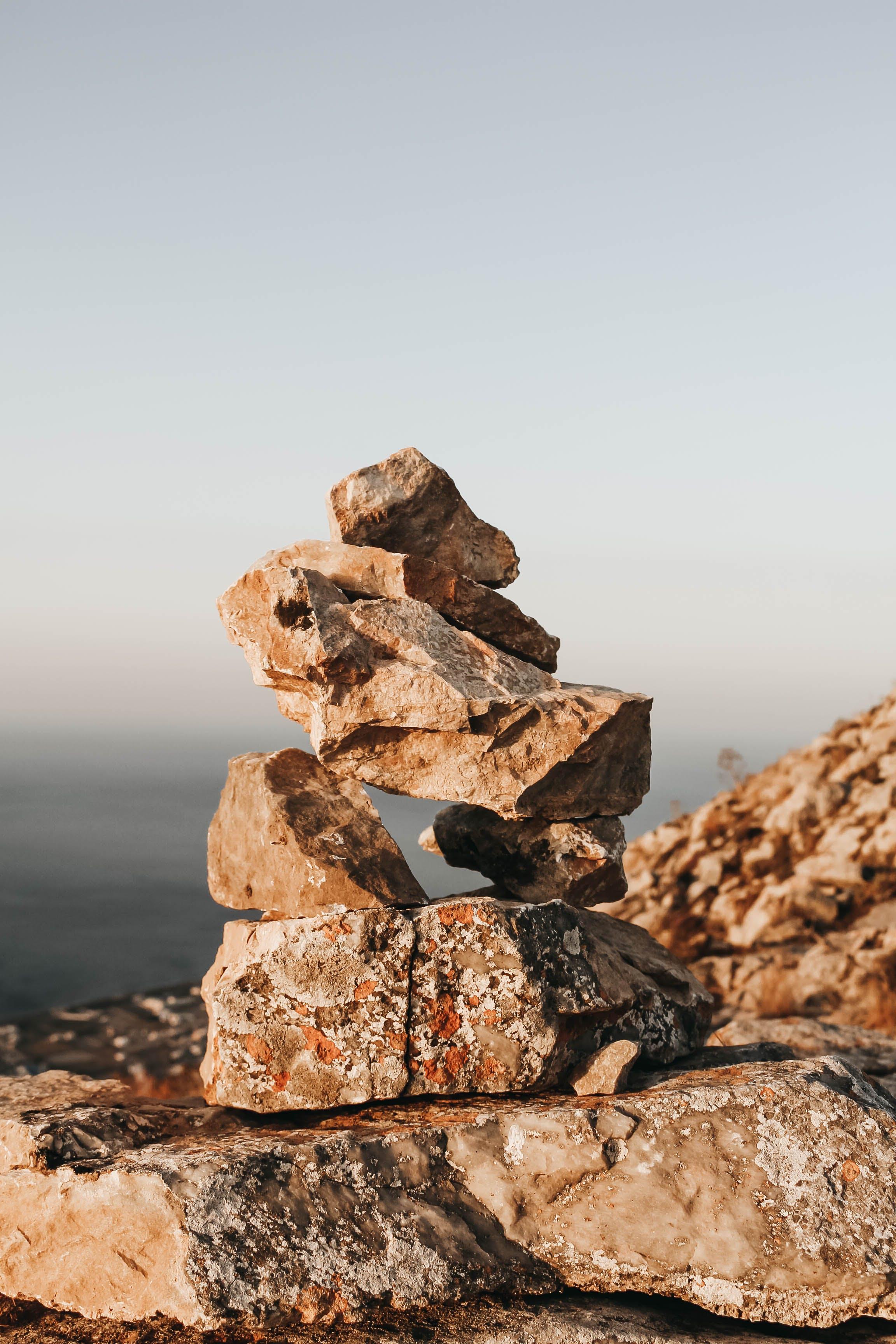 Základová fotografie zdarma na téma geologie, hnědá, kameny, rovnováha