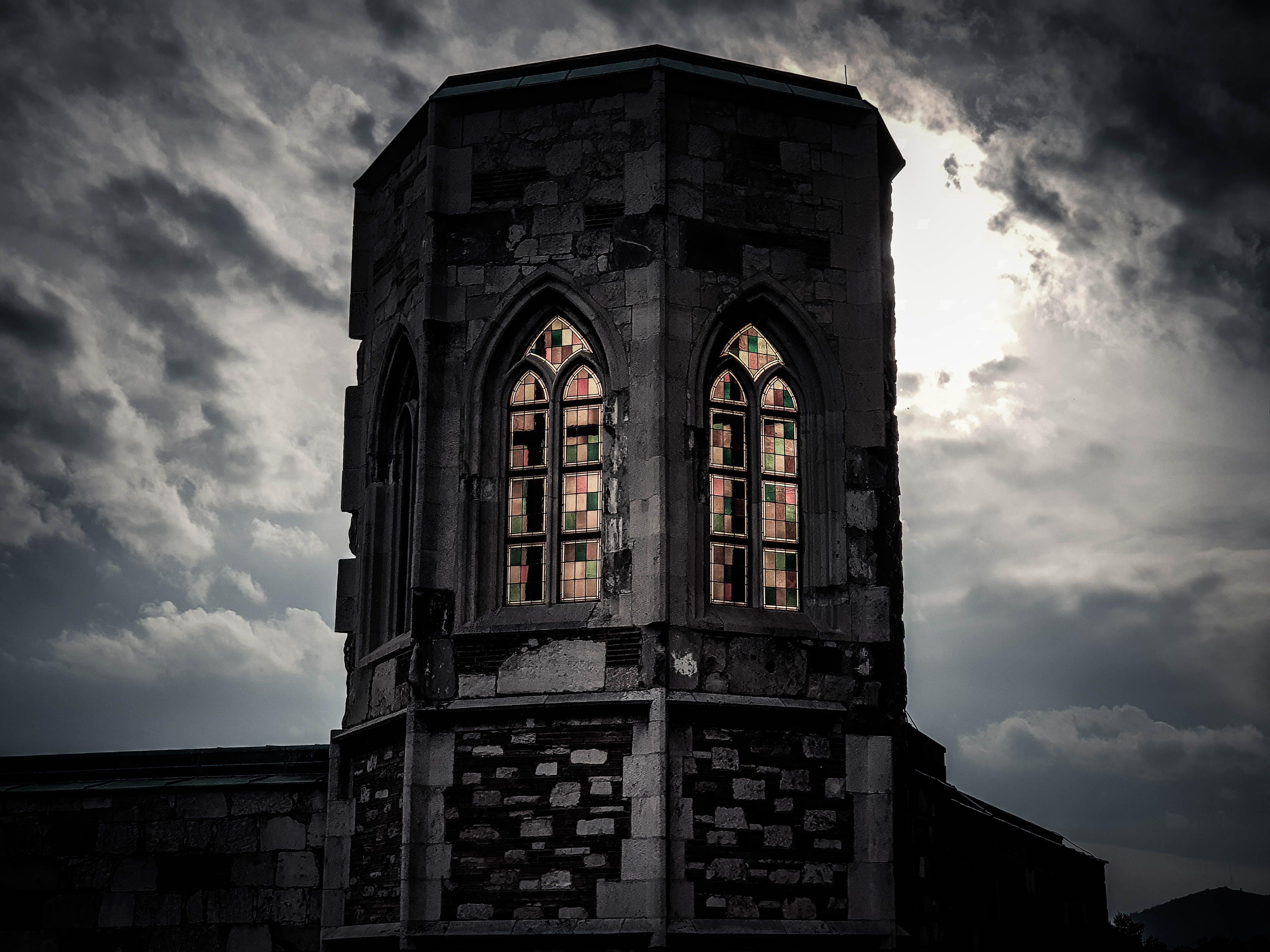 Free stock photo of sunset, night, dark, castle