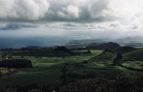 Photos gratuites de champs d'île verte